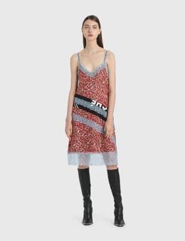 KOCHÉ Leopard Print Slip Dress