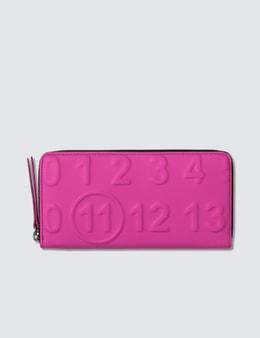 Maison Margiela Logo Long Leather Wallet Picture