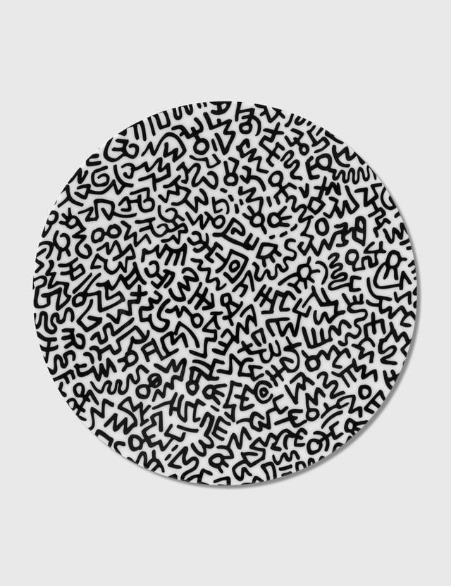 Ligne Blanche Keith Haring Black Pattern Limoges Porcelain Plate Black/white Men