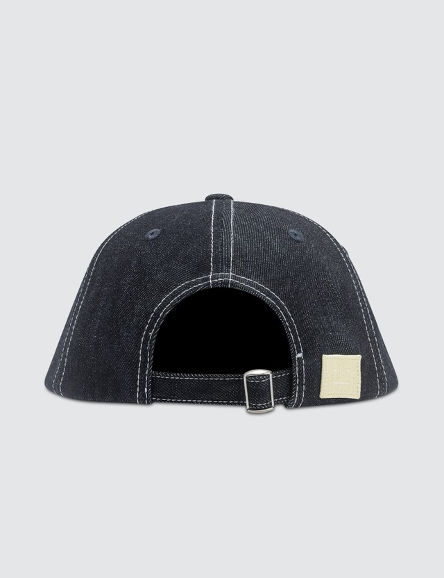 Acne Studios Cunov Face Denim Cap