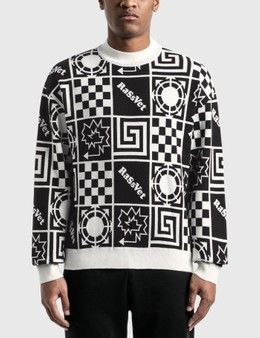 Rassvet Geometric Graphic Printed Sweater