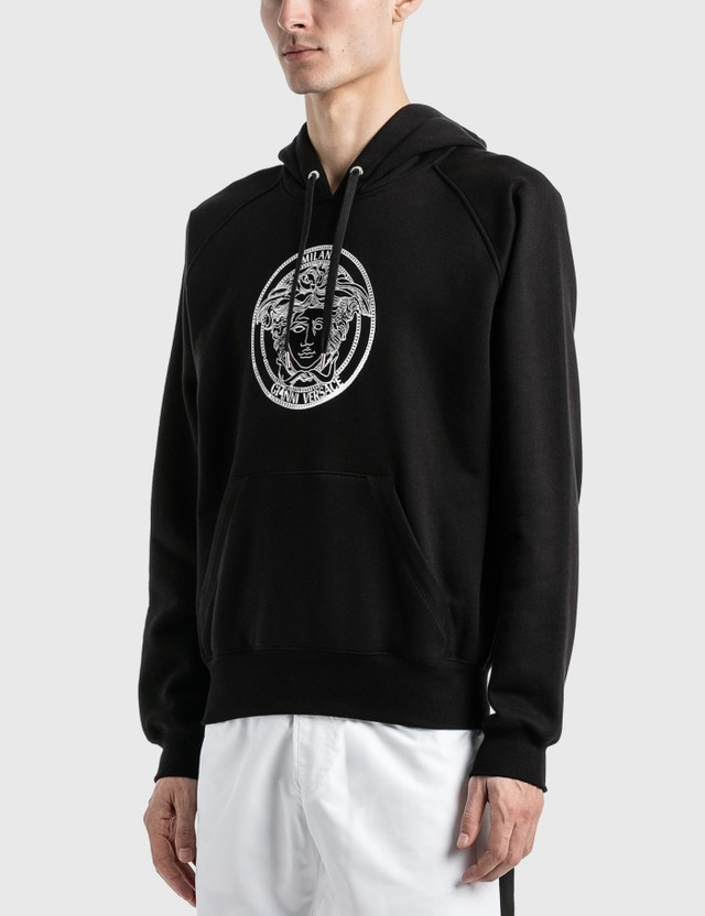 Versace Embroidered Medusa Hoodie Nero Men