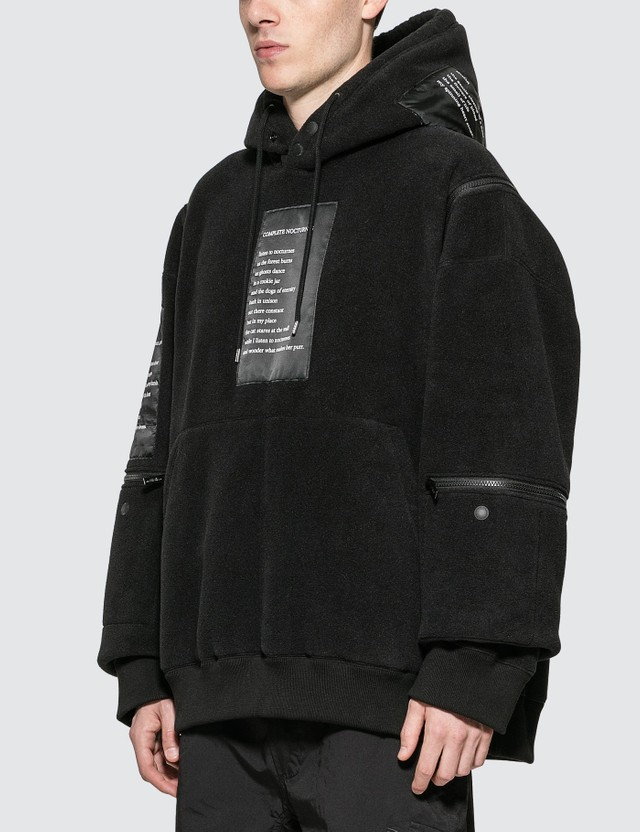Takahiromiyashita Thesoloist Fleece Hoodie With Zippered Trim