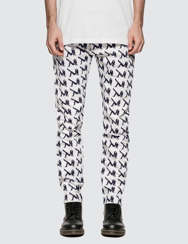 CALVIN KLEIN JEANS EST.1978 Allover Icon Printed Straight Leg Jeans