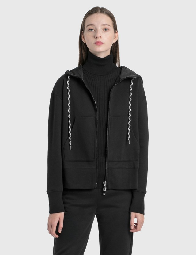 Moncler Patch Logo Hoodie Black Women