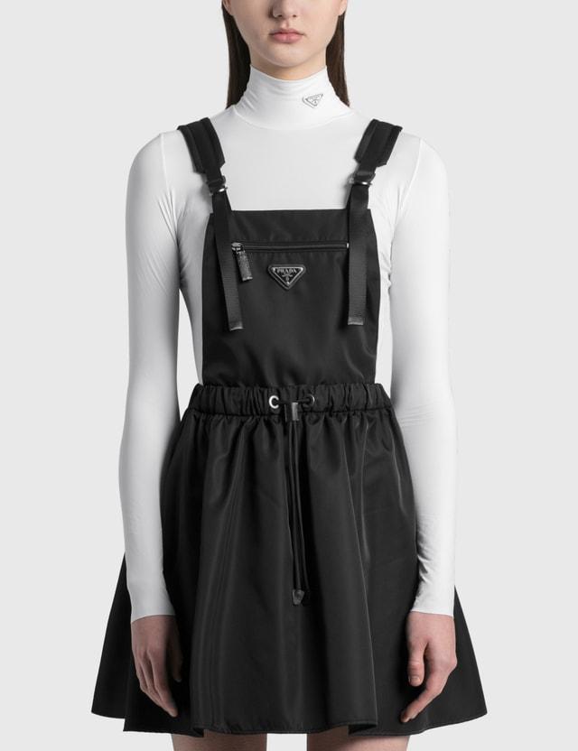 Prada Sleeveless Re-nylon Gabardine Dress Nero Women