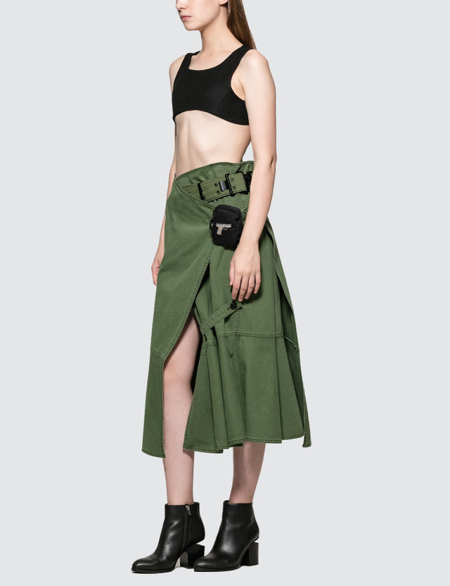 Hyein Seo Military Wrap Skirt