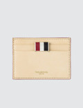 Thom Browne Single Card Holder In Toy Icon Embossed Vegetan Vachetta Leather Picture