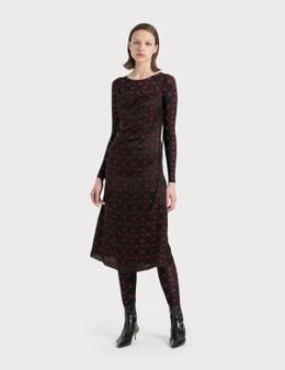 Marine Serre Jacquard Silk Bias Dress