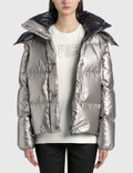Moncler Crinkle Effect Metal Coating Jacket Picutre