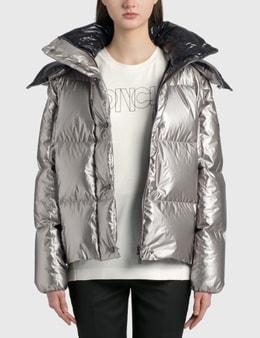 Moncler Crinkle Effect Metal Coating Jacket