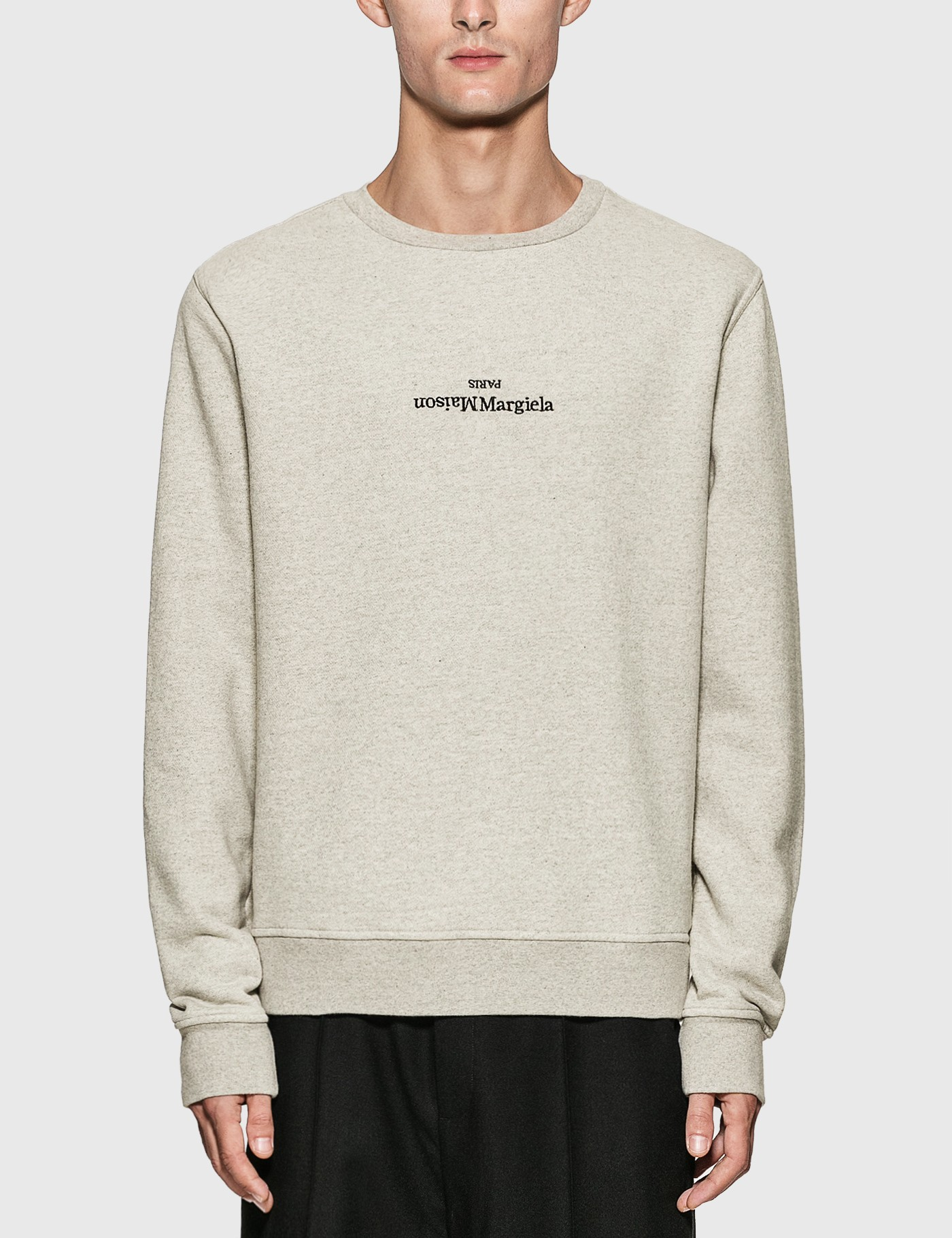 Reversed Logo Embroidery Sweatshirt