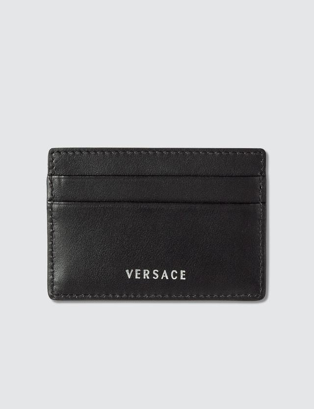 Versace Greca Keys Embossed Card Holder