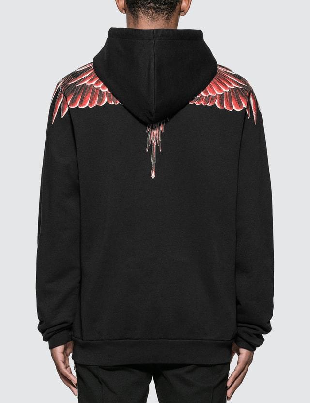 Marcelo Burlon Red Ghost Wings Hoodie