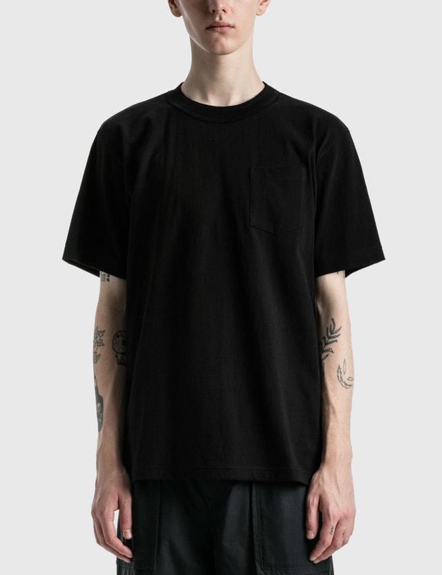 Sacai Side Zip Cotton T-shirt