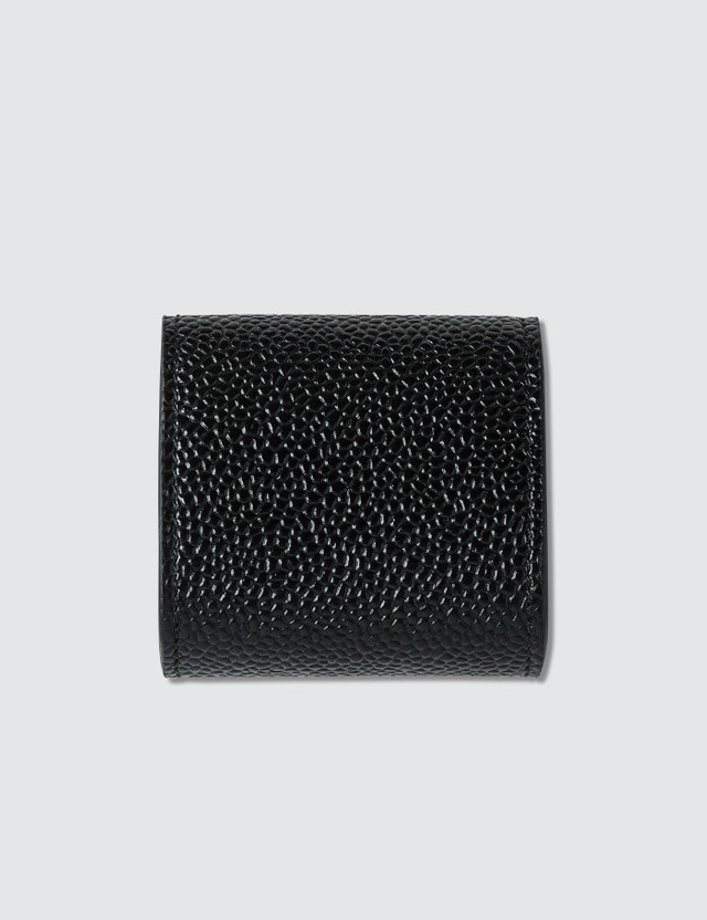 Thom Browne Small Coin Case In Pebble Grain