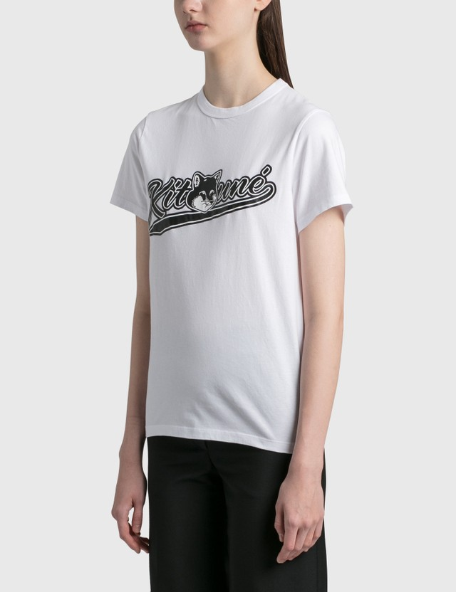 Maison Kitsune Varsity Fox Classic T-shirt White Wh Women