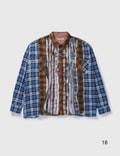 Needles Ribbon Wide Flannel Shirt Multicolor Men