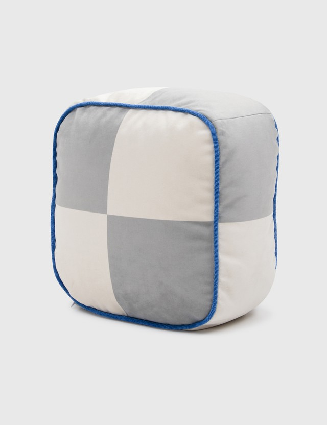Crosby Studios Big Checkers Cubic Pillow Multi Unisex