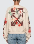 Off-White Flowers Carryover Cropped Sweatshirt Picture