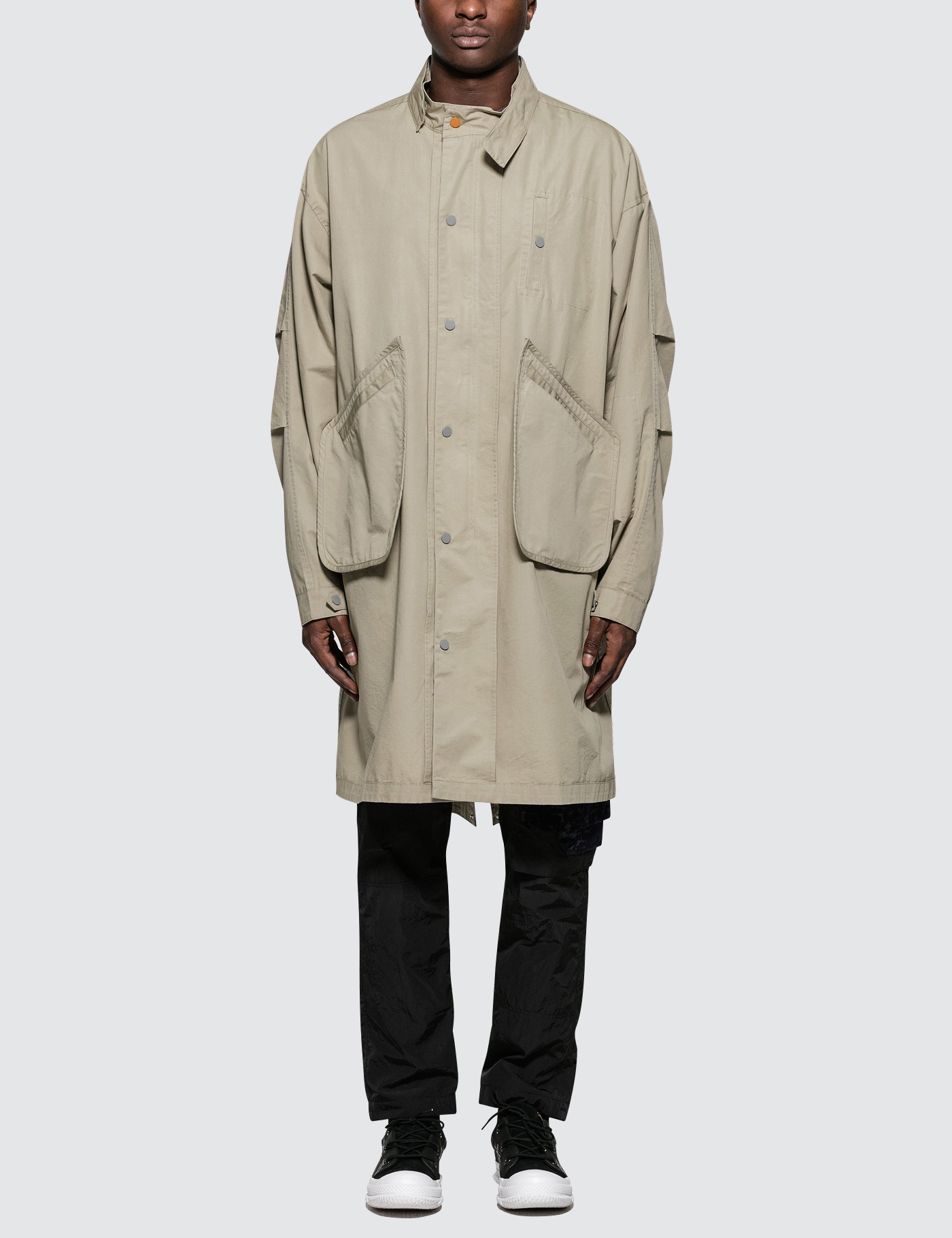 C2H4 Los Angeles Inside Out Snap Collar Human Tech Specs Parka Picture