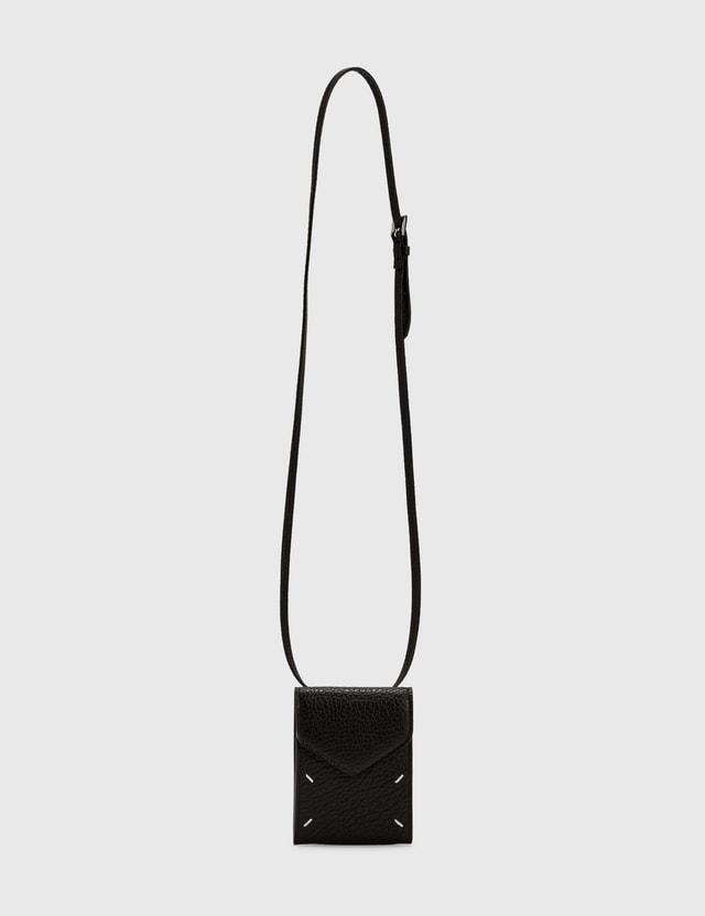 Maison Margiela Mini Strap Wallet Black Women