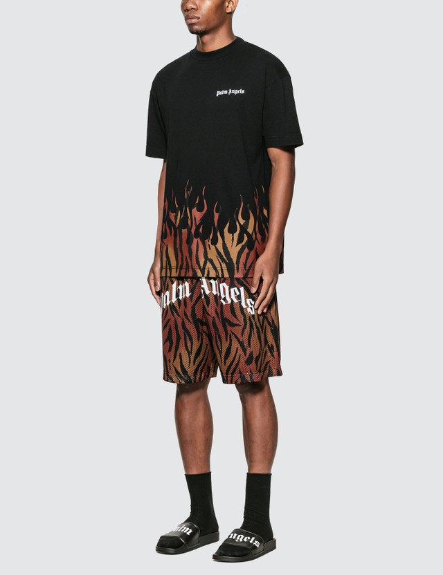 Palm Angels Tiger Mesh Shorts