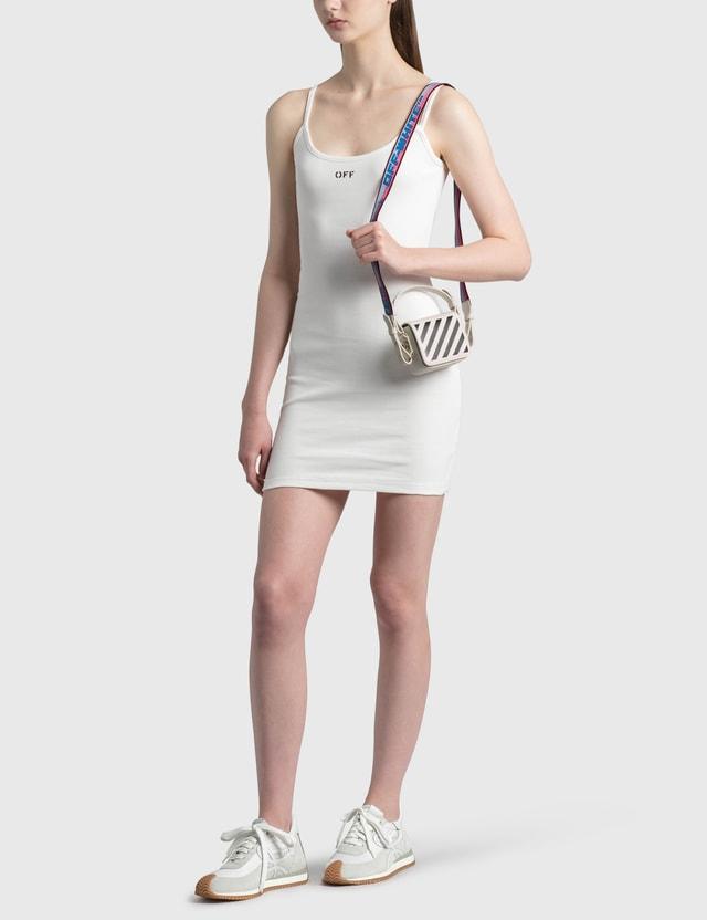 Off-White Diag Baby Flap Bag White Black Women