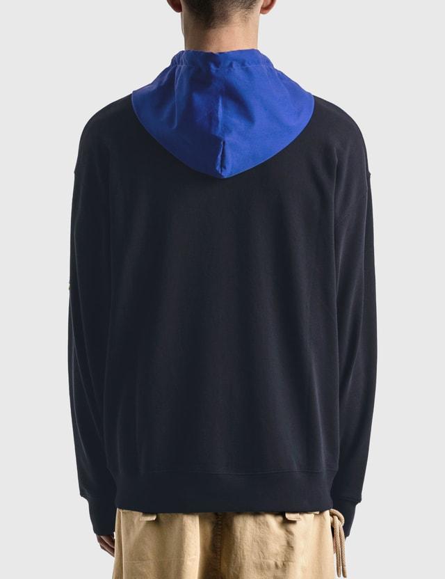 Moncler Genius 1 Moncler JW Anderson Hooded Zip Up Sweatshirt Black Men