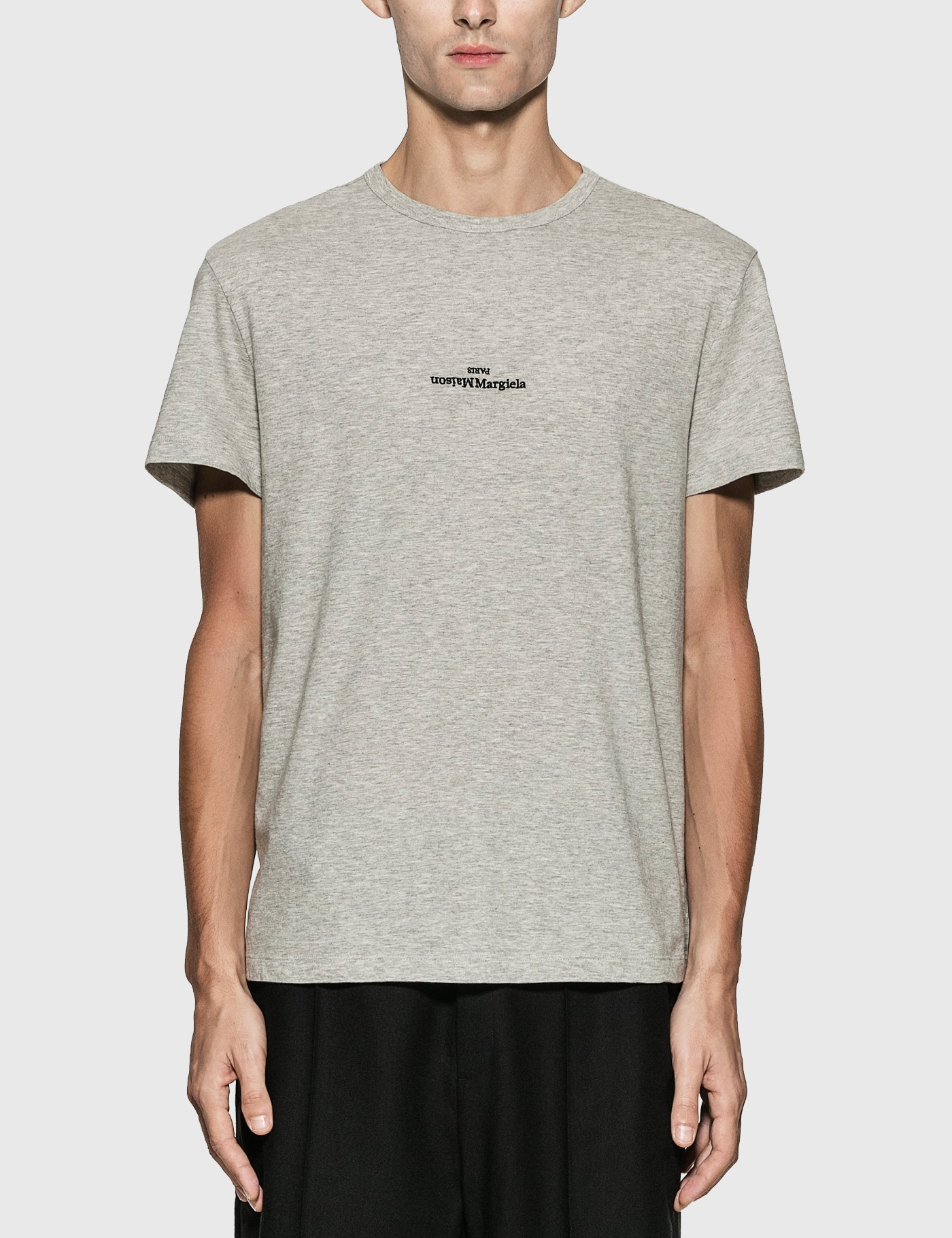 Reversed Logo Embroidery T-Shirt