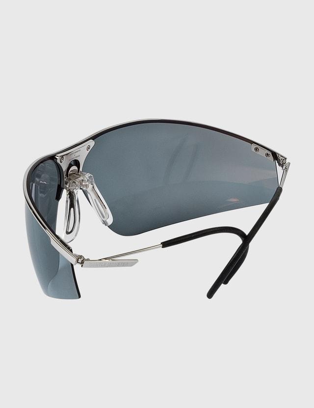 Marine Serre Gentle Monster X Marine Serre Metal Visor Tinted Glasses 11 Silver Women