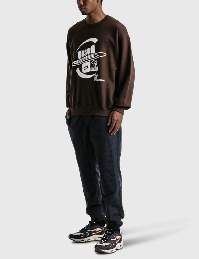 Yen Town Market Hydeout Dimension Ball Crewneck Sweatshirt Chocolate Men