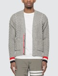 Thom Browne Classsic Aran Cable Cardigan Picture