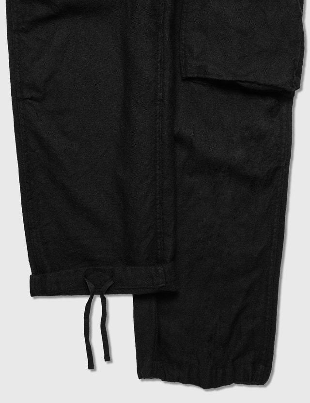 Sacai Solid Shrivel Pants Black Men