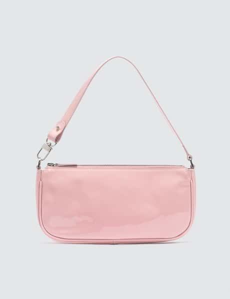 바이파 레이첼백 베이지 - 핑크 유광 BY FAR Rachel Baby Pink Patent Leather Bag