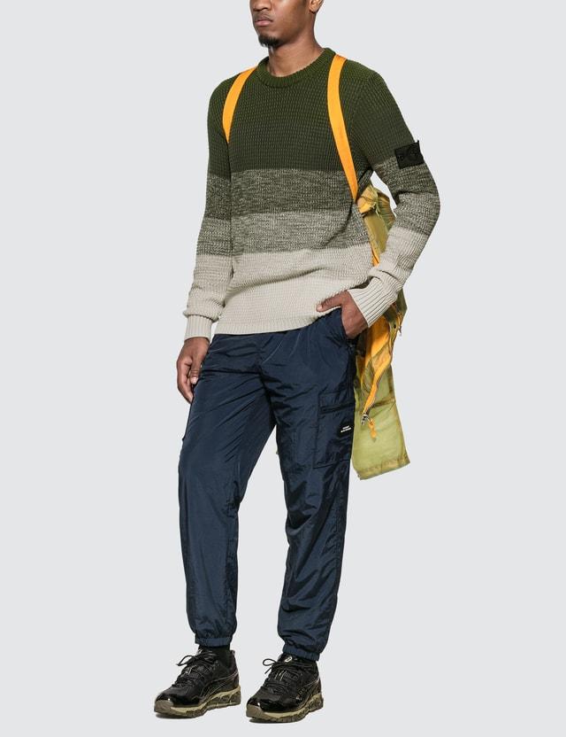 Stone Island Shadow Project Gradient Knit Crewneck Sweater