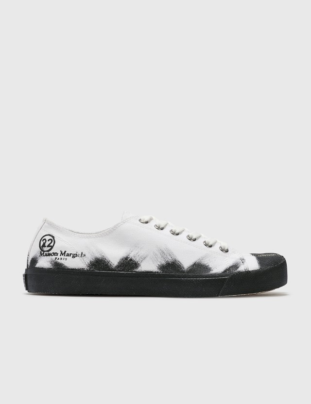 Maison Margiela 타비 페인트 스니커즈 H8327 White Base/black Painter Men