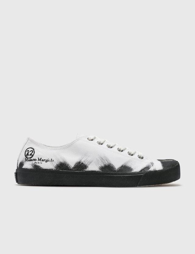 Maison Margiela Tabi Paint Sneakers H8327 White Base/black Painter Men