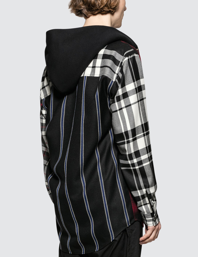 Alexander Wang Wool Tartan Hooded Shirt