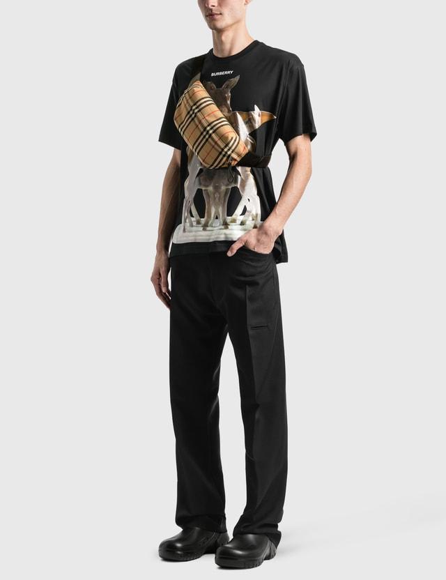 Burberry Kaleidoscope Print Cotton Oversized 티셔츠 Black Men