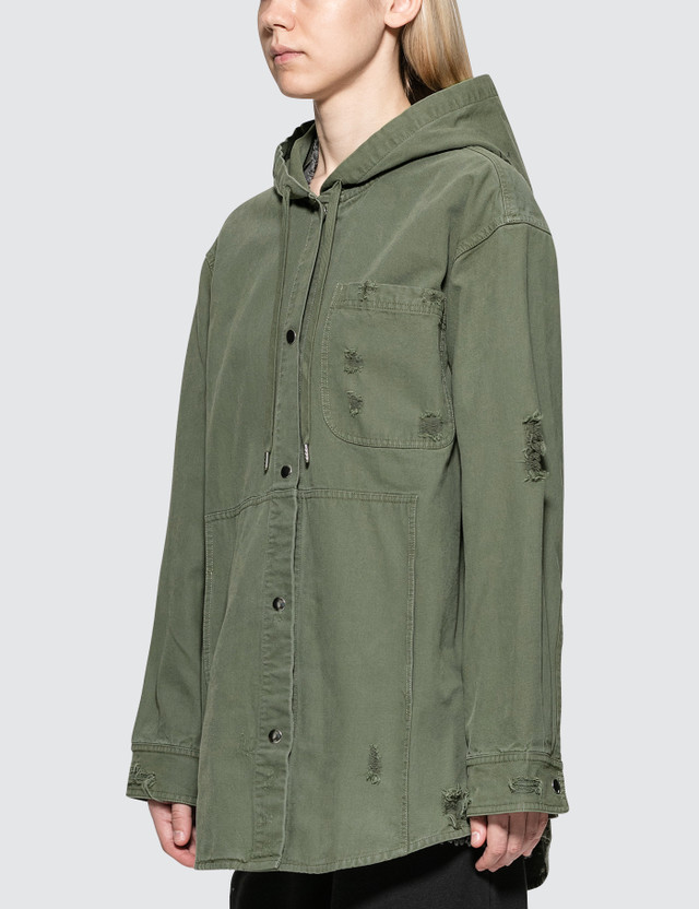 Alexander Wang.T Pajama Utility Hooded Oversized Shirt