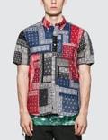 SOPHNET. S/S  Patch Work Regular Collar Shirt Picture
