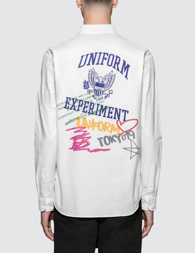 uniform experiment Color Graffiti B.D Shirt