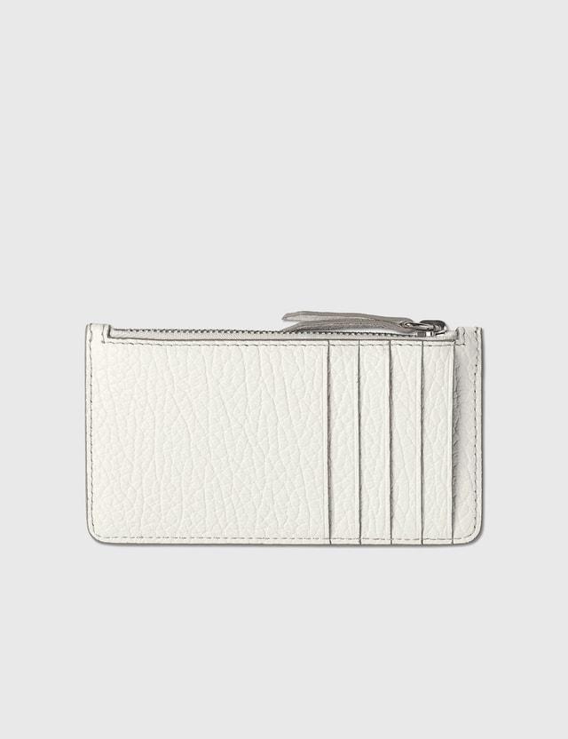 Maison Margiela Zip Card Holder White Women