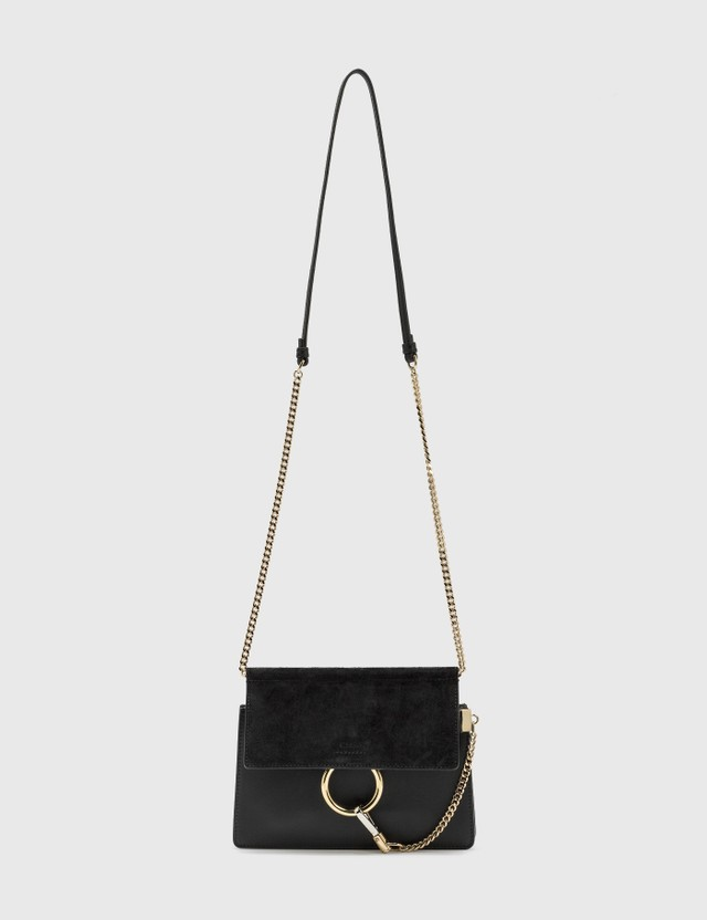 Chloé Faye Mini Chain Bag Black Women