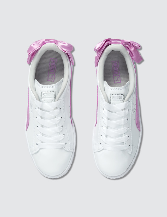 Puma Basket Bow Patent AC Pre-School Puma White/orchid Girls