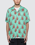 SSS World Corp Flaming Skeleton Hawaiian Shirt Picutre