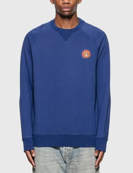 Maison Kitsune Flower Fox Patch Sweatshirt
