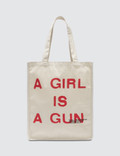 Pleasures A Girl is a Gun Tote Bag Picture