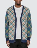 Awake Double Plaid Mohair Cardigan Picutre
